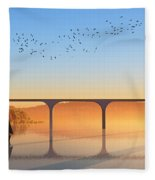 Sailing Out To Sea... Fleece Blanket