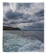 Sailing Past Pictured Rocks Fleece Blanket
