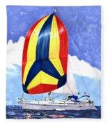 Sailing Primary Colores Spinnaker Fleece Blanket