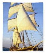 Sailing Ship Carribean Fleece Blanket