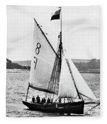 Sailing Ship Cutter Fleece Blanket