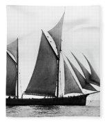 Sailing Ship Ketch, 1876 Fleece Blanket