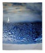 Sailing The Liquid Blue Fleece Blanket