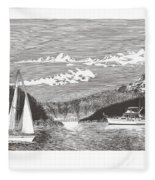 Sailing Mount Hood Oregon Fleece Blanket