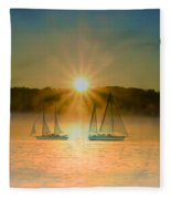 Sailing When The Sun Comes Up Fleece Blanket