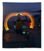 Sailor Signals Fleece Blanket