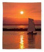 Sailors Solitude 2 Fleece Blanket