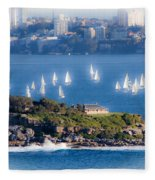 Sails Out To Play Fleece Blanket