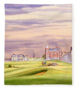 Saint Andrews Golf Course Scotland - 17th Green Fleece Blanket