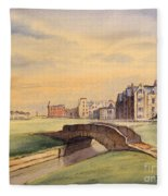 Saint Andrews Golf Course Scotland - 18th Hole Fleece Blanket