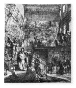Saint-aubin Louvre, 1753 Fleece Blanket