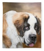 Saint Bernie Fleece Blanket