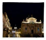 Saint Blaise Church - Dubrovnik Fleece Blanket