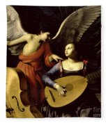 Saint Cecilia And The Angel Fleece Blanket