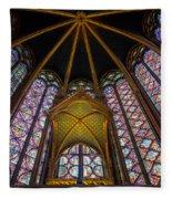 Saint Chapelle Windows Fleece Blanket