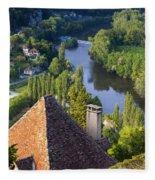 Saint Cirq Lapopie Fleece Blanket