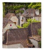 Saint Cirq Rooftops Fleece Blanket