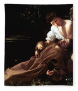 Saint Francis Of Assisi In Ecstasy Fleece Blanket