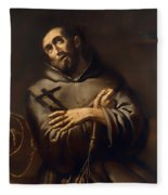 Saint Francis Of Assisi Fleece Blanket
