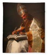 Saint Gregory The Pope Fleece Blanket