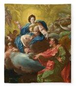 Saint James Being Visited By The Virgin Fleece Blanket