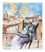 Saint John Of The Cross In Salamanca Fleece Blanket
