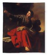 Saint John The Evangelist At Patmos Fleece Blanket