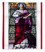 Saint John The Evangelist Stained Glass Window Fleece Blanket
