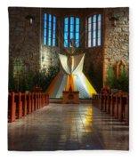 Saint Josephs Apache Mission Fleece Blanket