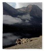 Saint Mary Lake East Glacier Fleece Blanket
