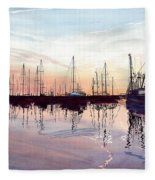 Saint Marys Marina   Shadows Light And Fire Fleece Blanket