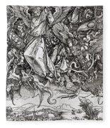 Saint Michael And The Dragon Fleece Blanket