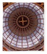 Saint Nicholas Church Dome Interior In Amsterdam Fleece Blanket