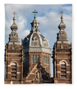 Saint Nicholas Church In Amsterdam Fleece Blanket