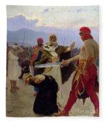 Saint Nicholas Of Myra Saves Three Innocents From Death Fleece Blanket
