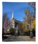 Saint Patricks Cathedral Founded Fleece Blanket