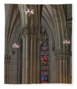 Saint Patrick's Cathedral Stained Glass Window Fleece Blanket