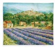 Saint Paul De Vence And Lavender Fleece Blanket