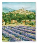 Saint Paul De Vence And Lavender Fleece Blanket