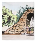Saint Rosa Fleece Blanket