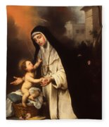 Saint Rose Of Lima Fleece Blanket