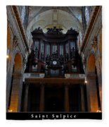 Saint Sulpice Fleece Blanket