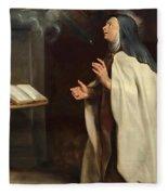 Saint Teresa Of Avila's Vision Of The Holy Spirit Fleece Blanket