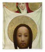 Saint Veronica With The Sudarium Fleece Blanket