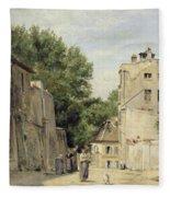 Saint-vincent Street, Montmartre Oil On Canvas Fleece Blanket