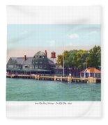 Sainte Claire Flats - Michigan - The Old Club - 1920 Fleece Blanket