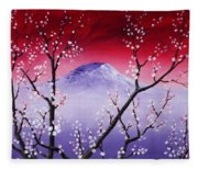 Sakura Fleece Blanket