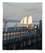 Salem Willows Sailboat Fleece Blanket