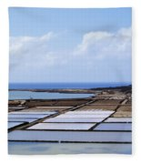 Salinas De Janubio On Lanzarote Fleece Blanket