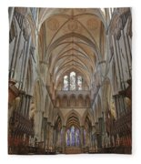 Salisbury Cathedral Quire And High Altar Fleece Blanket